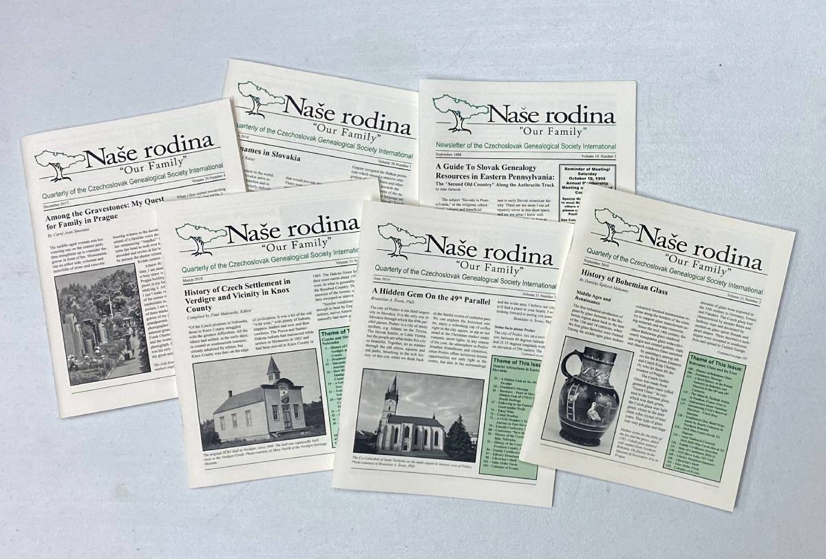 Display of Naše rodina covers