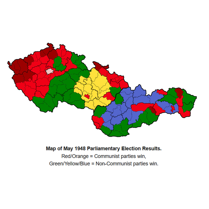 Map of May 1948 Parliamentary Election Results