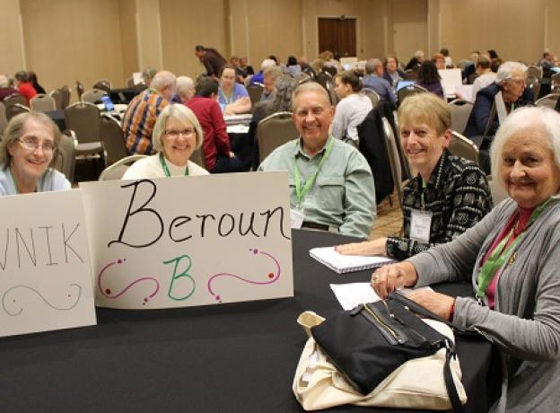CGSI conference attendees at a table