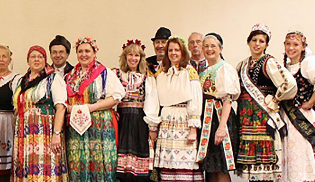 Group of people in traditional clothes