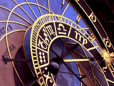 Close up of Prague Orlov clock