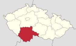 Třeboň map