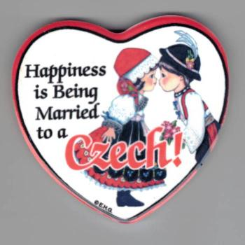 Happiness is Being Married to a Czech heart plaque