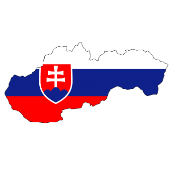 Slovakia map / flag outline