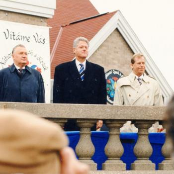 10.21.1995-Three-Presidents-standing-together-at-museum-dedication-October-21-1995