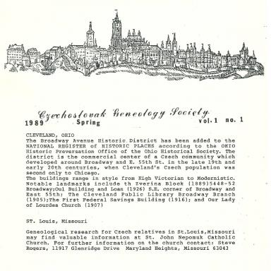 Cover of Spring 1989 Naše rodina