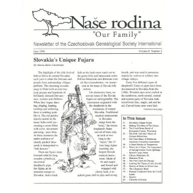 Cover of June 1996 Naše rodina
