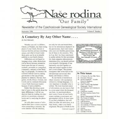 Cover of September 1996 Naše rodina