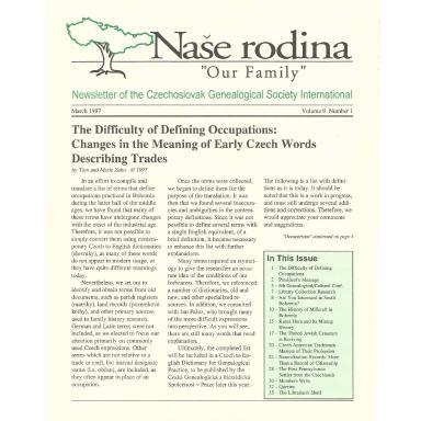 Cover of March 1997 Naše rodina