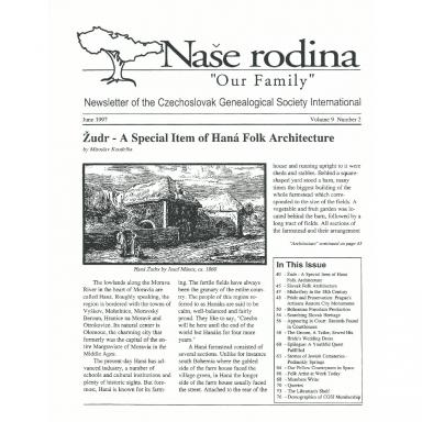 Cover of June 1997 Naše rodina