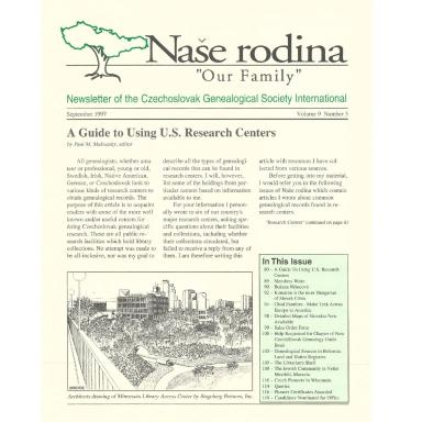 Cover of September 1997 Naše rodina