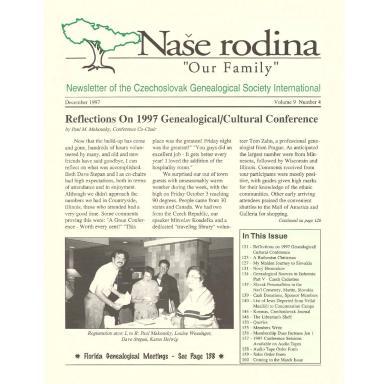 Cover of December 1997 Naše rodina