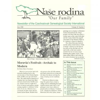 Cover of June 1998 Naše rodina