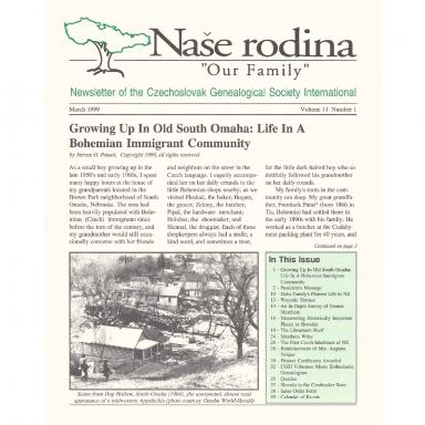 Cover of March 1999 Naše rodina
