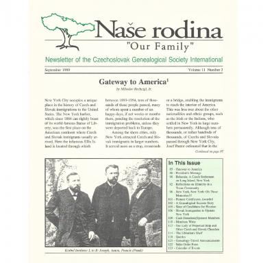 Cover of September 1999 Naše rodina