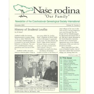 Cover of December 2000 Naše rodina