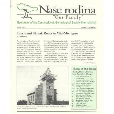 Cover of March 2002 Naše rodina