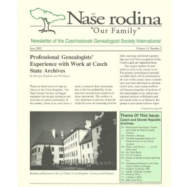 Cover of June 2002 Naše rodina