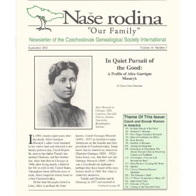 Cover of September 2002 Naše rodina