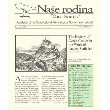Cover of December 2002 Naše rodina