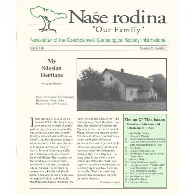 Cover of March 2003 Naše rodina