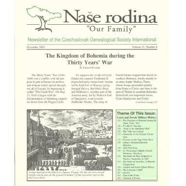 Cover of December 2003 Naše rodina