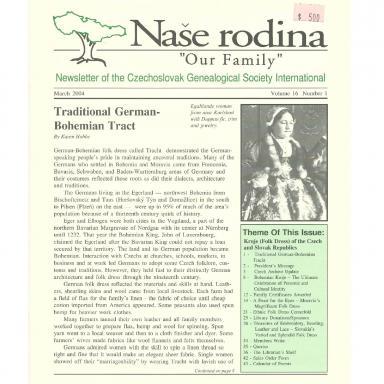 Cover of March 2004 Naše rodina