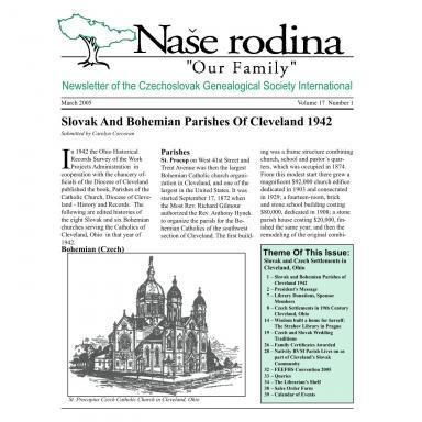 Cover of March 2005 Naše rodina