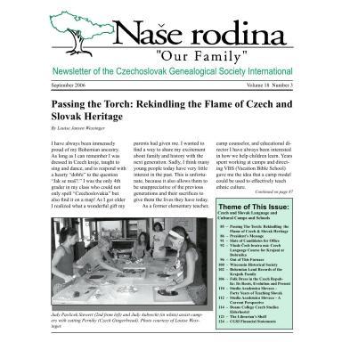 Cover of September 2006 Naše rodina