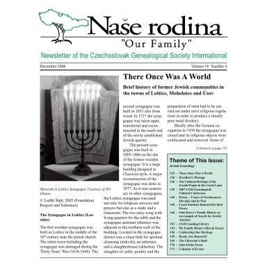 Cover of December 2006 Naše rodina