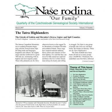 Cover of March 2007 Naše rodina