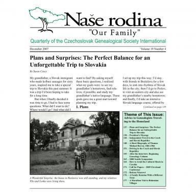 Cover of December 2007 Naše rodina