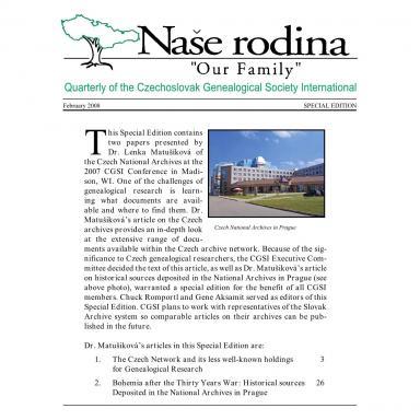 Cover of February 2008 Naše rodina