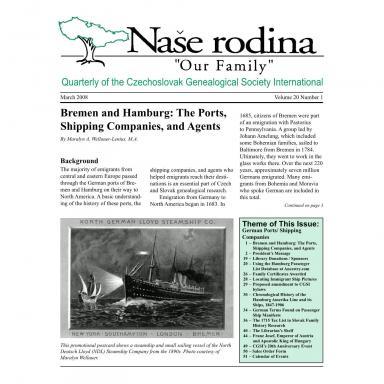 Cover of March 2008 Naše rodina