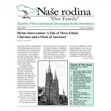 Cover of March 2009 Naše rodina