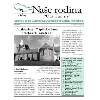 Cover of June 2009 Naše rodina