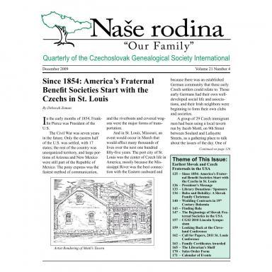 Cover of December 2009 Naše rodina