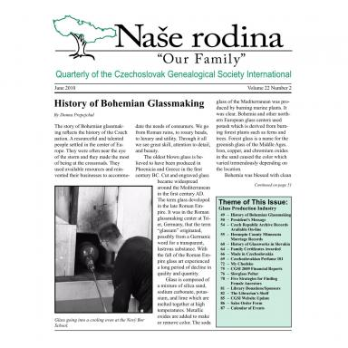 Cover of June 2010 Naše rodina