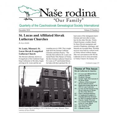 Cover of December 2010 Naše rodina