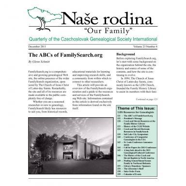 Cover of December 2011 Naše rodina