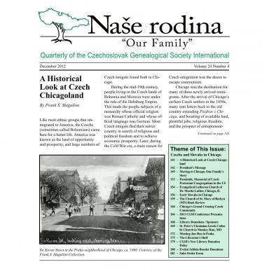 Cover of December 2012 Naše rodina