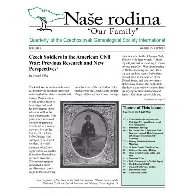 Cover of June 2013 Naše rodina