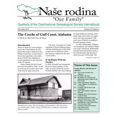 Cover of December 2014 Naše rodina
