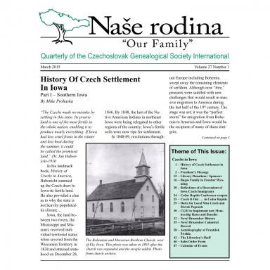Cover of March 2015 Naše rodina