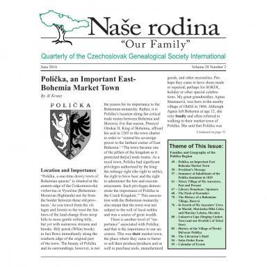 Cover of June 2016 Naše rodina
