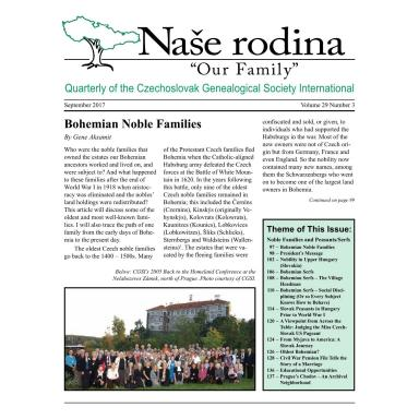 Cover of September 2017 Naše rodina