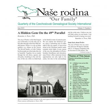 Cover of June 2019 Naše rodina