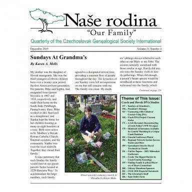 Cover of December 2019 Naše rodina