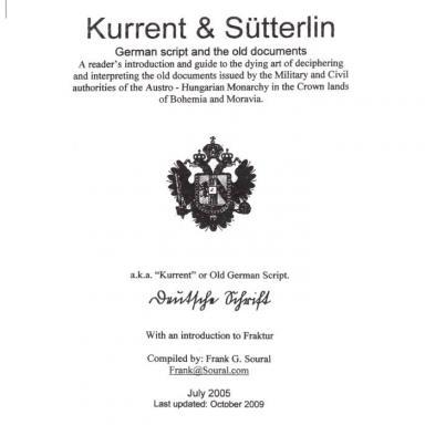 Kurrent & Sütterlin front cover