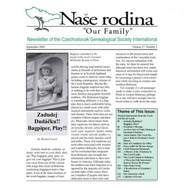 Cover of September 2005 Naše rodina